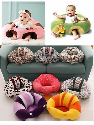 Baby Kids Support Seat Sit Up Soft Chair Cushion Sofa Plush Pillow Bean Bag
