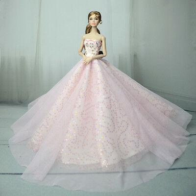 Fashion Royalty veiled gauze Dress Pink Princess Gown For 11.5in.Doll Silkstone