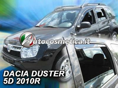 set 4 Deflettori Aria Antiturbo Oscurati Antivento Dacia Duster 2011-2017