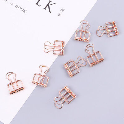 Cute Metal Hollowed Out Design Binder Clip For School Office Paper Organization