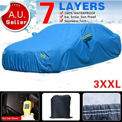 3XXL 7Layers Car Cover PEVA Dust Outdoor Waterproof SnowSun Rain Ice UV Resist I