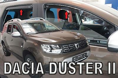 set 4 Deflettori Aria Antiturbo Oscurati Antivento Dacia Duster 2018>