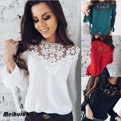 Fashion Women's Ladies Long Sleeve Loose Blouse Casual Shirt Summer Tops T-Shirt