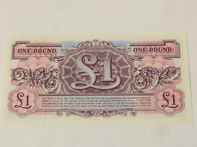 BRITISH ARMED FORCES £1 One Pound Banknote UNCIRCULATED AA/7 - WW2 *