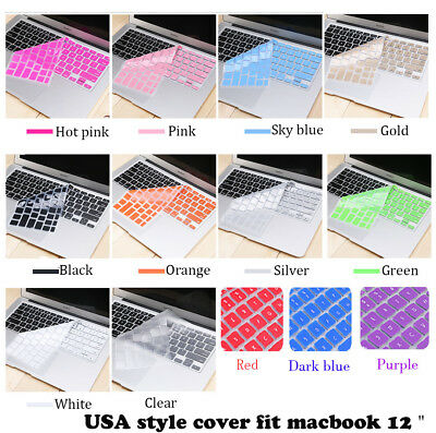 """Soft Keyboard cover Skin For New Macbook Pro 13"""" No touch bar A1708 Macbook 12"""""""