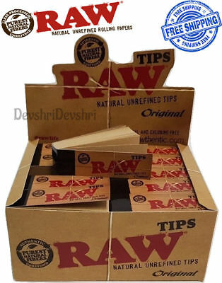 RAW Rolling Paper Smoking Genuine Roach Roaches Book Filter Tips