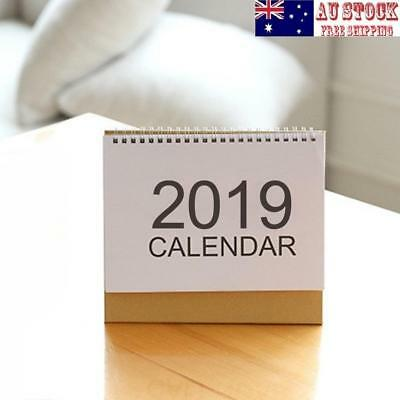 AU 2019 Desk-Top Flip Calendar Month To View Stand Up Office Home Table Planner