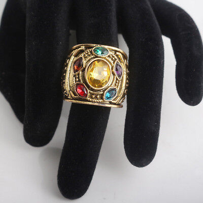 2018 THANOS Infinity Gauntlet POWER RING Avengers Bagues Infinity War Stone 8-12