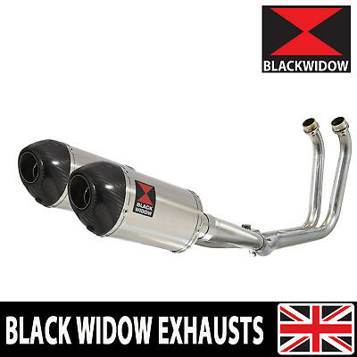 TDM 900 02-09 2-2 Full Exhaust System 200mm Stainless Carb Silencers 200ST