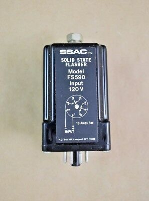 SSAC FS590 Solid State Flasher 120V Input 8 Pin