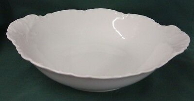"""Haviland RANSON WHITE 10-1/8"""" Handled Round Vegetable Bowl More Items Available"""