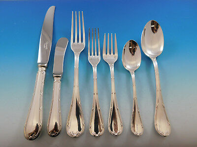 Rubans by Christofle France Silverplate Flatware Set 12 Service Dinner 92 pcs