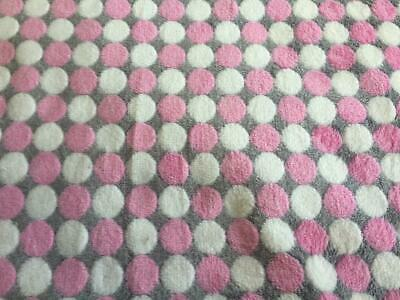 Double Sided Cuddle soft Fleece Fabric Material HONEYCOMB BRIGHT WHITE