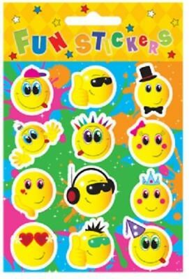 48 Sheets of 12 SMILEY FACE STICKERS