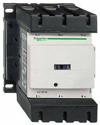 Schneider Electric Tesys D LC1D 3 Pole Contactor, 3NO, 150 A, 80 kW, 110 V ac Co