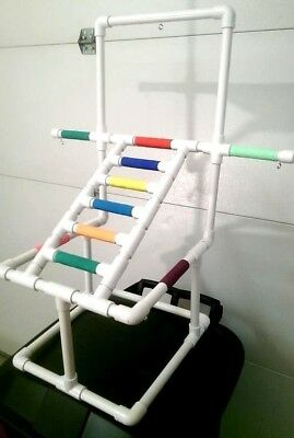 Deluxe Ladder Play Gym  Perch  Stand **W  PAN!  ** FREE SHIPPING!