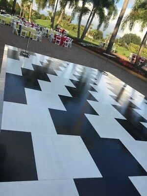 Dance Floor Black and White - (76) 3'x3' squares - NOT checkboard