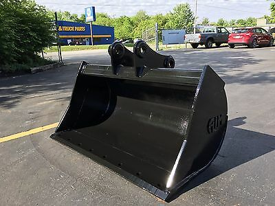 """New 48"""" Komatsu PC78 Ditch Cleaning Bucket with Coupler Pins"""