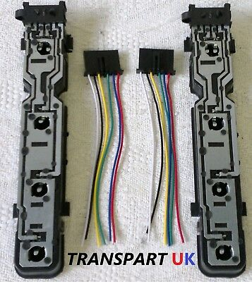 2x FORD TRANSIT MK6 MK7  REAR TAIL LIGHT BULB HOLDER WIRING LOOM CONNECTOR PLUG