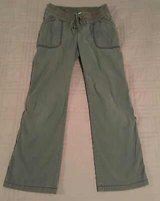 Old Navy Gray Casual Maternity Pants Small Cargo Under-Belly Comfortable