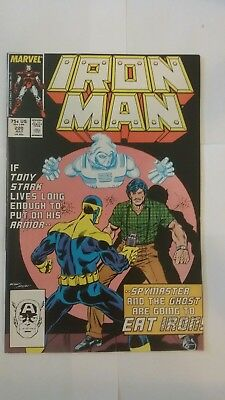 Iron Man #220 (1987, Marvel) 2nd appearance of Ghost Antman and the Wasp