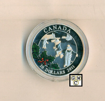 2011 'Little Skaters' Proof $10 Silver Coin .9999 Fine (12904) (NT) (OOAK)