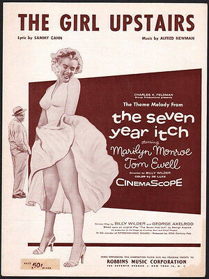 GIRL UPSTAIRS 1955 Marilyn Monroe The Seven Year Itch Sheet Music ...