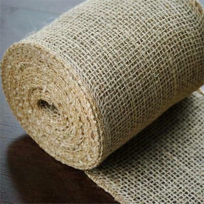 """5"""" x 30 ft Natural Brown BURLAP FABRIC ROLL Wedding Party Favors Decorations"""