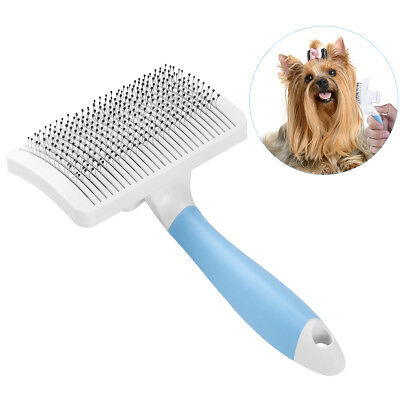 UEETEK Pet Self Cleaning Slicker Brush for Dogs Cat Excellent Grooming Tool Blue