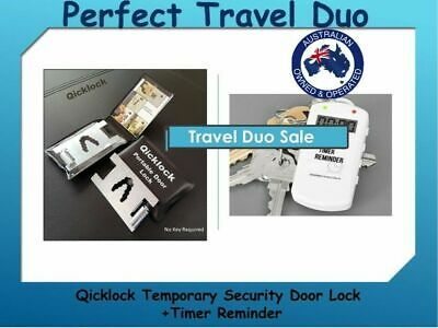 Qicklock Portable Temporary Safety Lock - Home or Travel Security Lock
