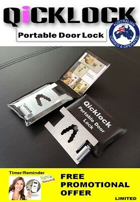 Qicklock Portable Door Lock-Temporary Safety Lock-Security Lock- Christmas Gift