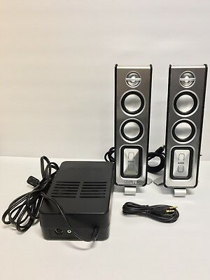 Philips MMS321 Computer PC multimedia Speakers 80w 3.5mm Jack Wired Audio Gaming