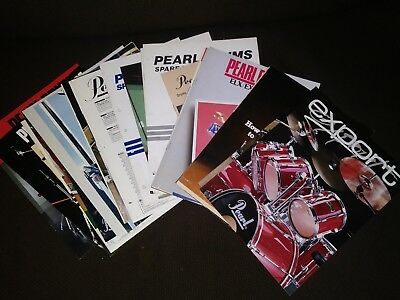 Lot of Pearl Drum Catalogs 1980s Musical Instruments Percussion