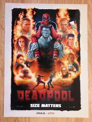 Mini Movie Poster Promo Deadpool IMAX Marvel Comics - Ryan Reynolds