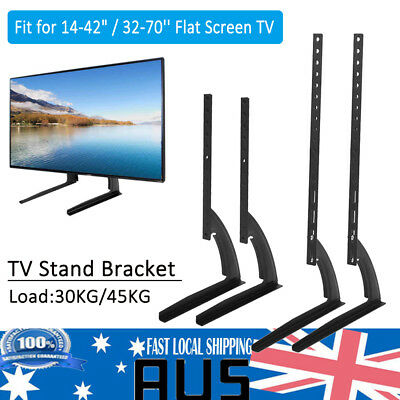 """Universal Table Top TV Stand Legs Bracket Mount Base for 14~42""""/32~70'' LED LCD"""
