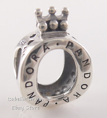 Authentic PANDORA Signature Silver CROWN O Charm 797401 NEW w PACKAGING!