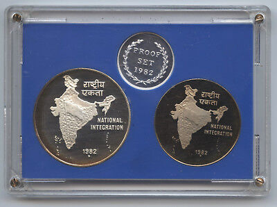 Republic of India 1982 Proof 2-Coin Set - Bombay - National Integration - AT166