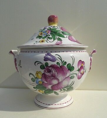 strasbourg desvres henri chaumeil tureen large french ceramic antique faience