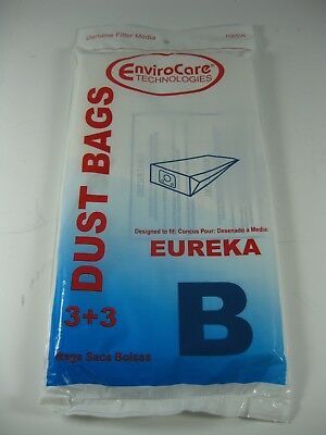 EnviroCare Dust Bags for Eureka Type B (Pack of 3 + 3 Filters)
