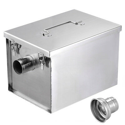 Commercial 8LB 5GPM Gallons Per Minute Grease Trap Stainless Steel Interceptor
