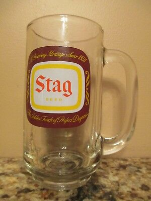 Vintage STAG Beer Glass Mug - Golden Touch of Perfect Dryness