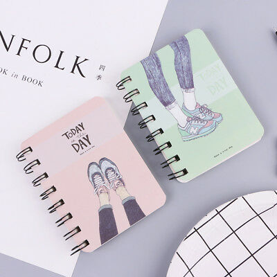 Mini Daily Office Supplies Planner Spiral Notebook Diary Notepad Memo Pad