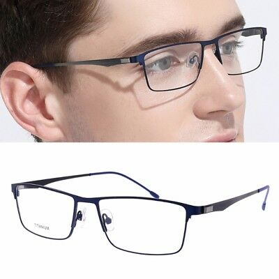 Titanium Glasses Frame Men Ultralight Square Eyeglasses Male Metal Optical Frame
