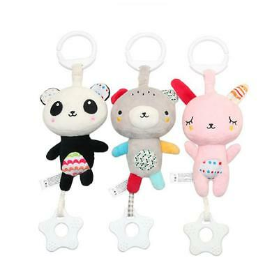 Multi Function Toys Infant Baby Animal Teether Rattles Carriage Crib Pendant