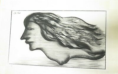 .ORIGINAL CHARLES BLACKMAN CHARCOAL ON PAPER 600 X 360 c.1976