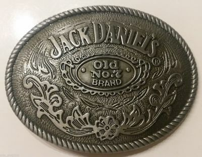 Jack Daniels Antique Silver Old No.7 Western Cowboy Belt Buckle