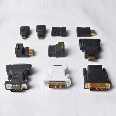 New Display Television Converter HDMI Female To DVI Male Multi-interface Adapter