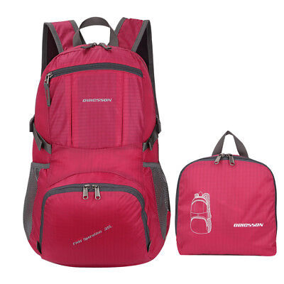 Packable Daypack Ultralight Foldable Waterproof Travel Backpack Shoulder Bag Red