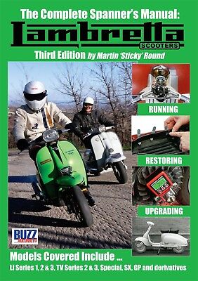 """""""NEW"""" Lambretta Complete Spanners Manual Third Edition Covers Series 1 2 3 & GP"""