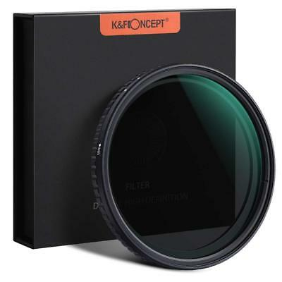 K&F Concept ND Neutral Density Variable Filter ND2 - ND32 52/58/62/67/72/77/82mm